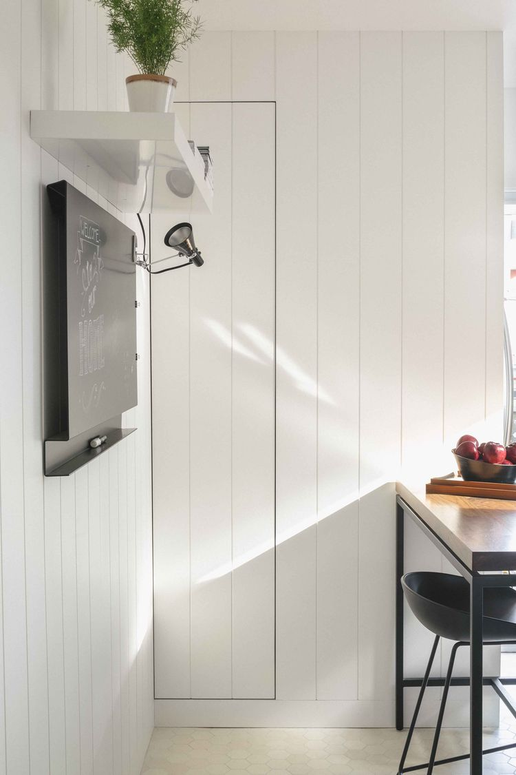Montreal kitchen with concealed pantry