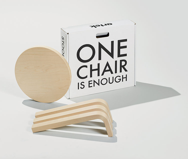 The iconic Stool 60 by Artek.