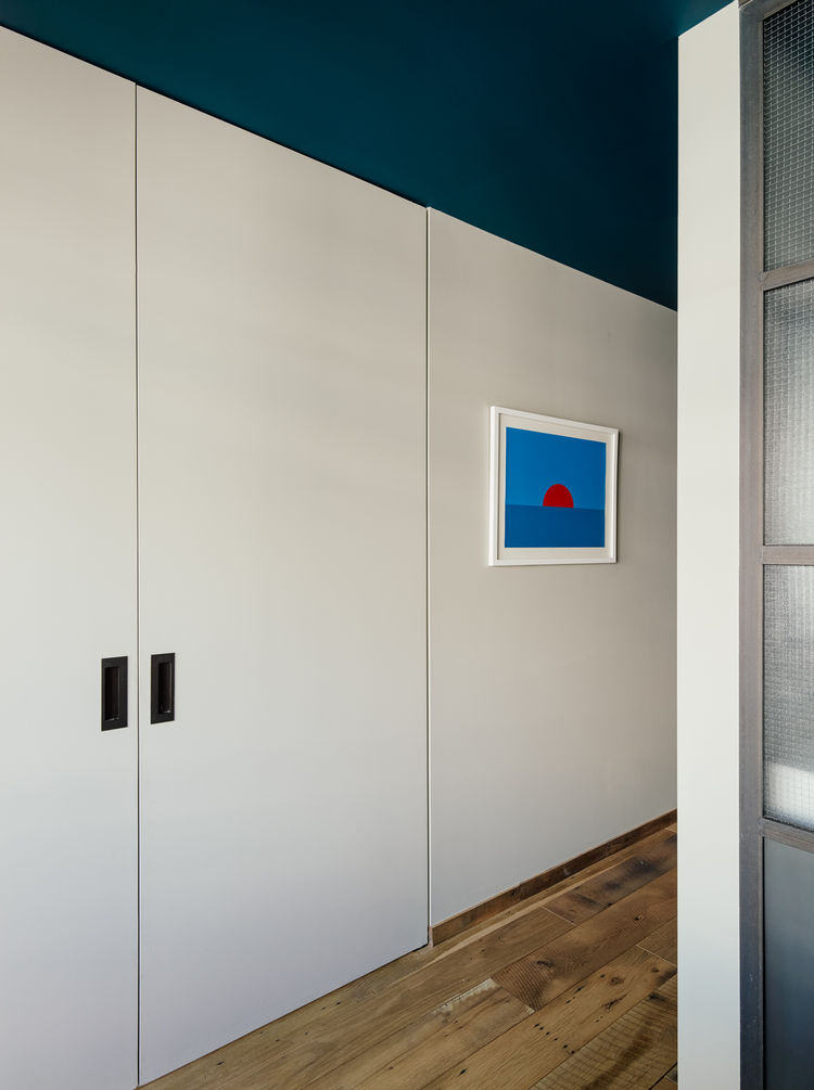 sliding doors in vinegar hill apartment