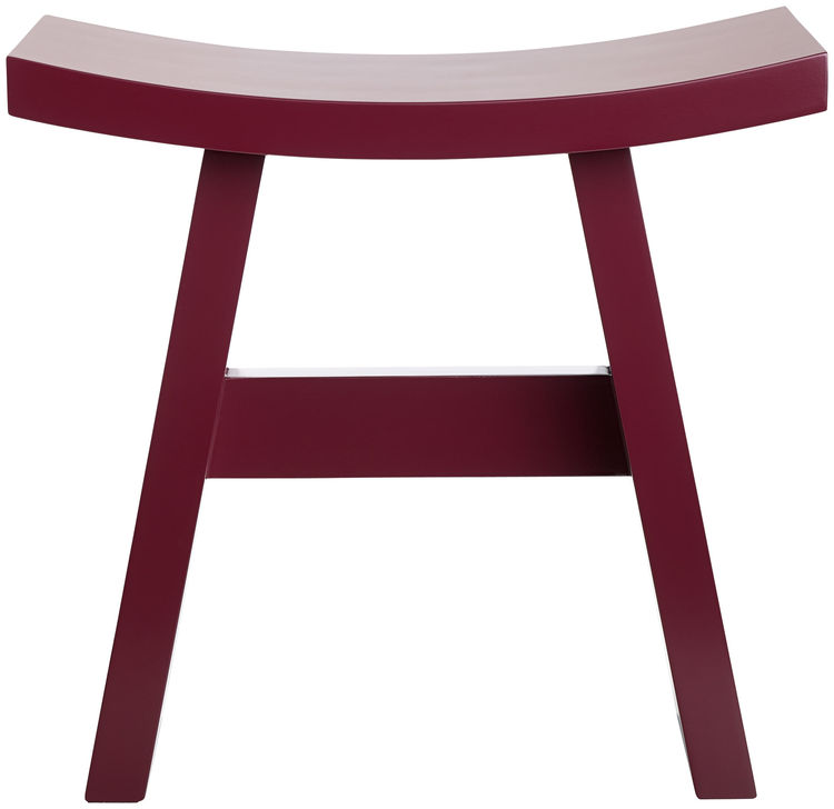 BoConcept Shogun wood stool in marsala red