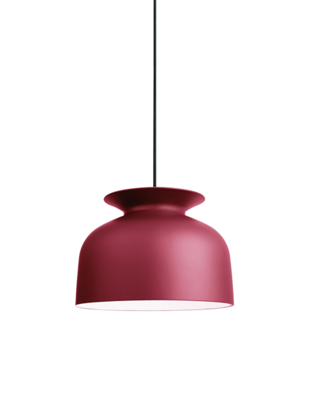 Gubi Ronde pendant light by Oliver Schick in marsala red hue