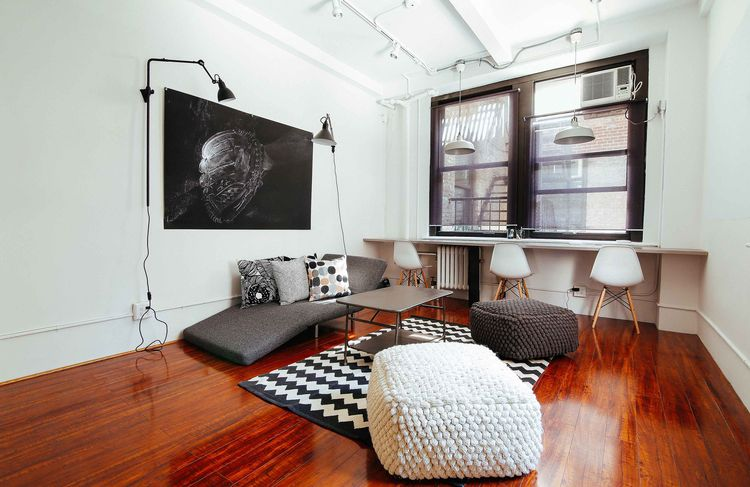 Breather space with modern furniture in NYC