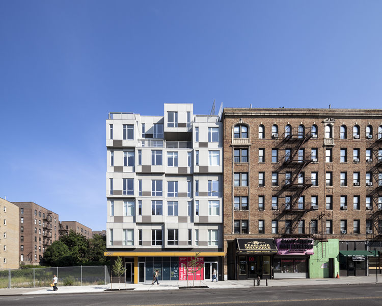 The Stack modular apartment building in Manhattan