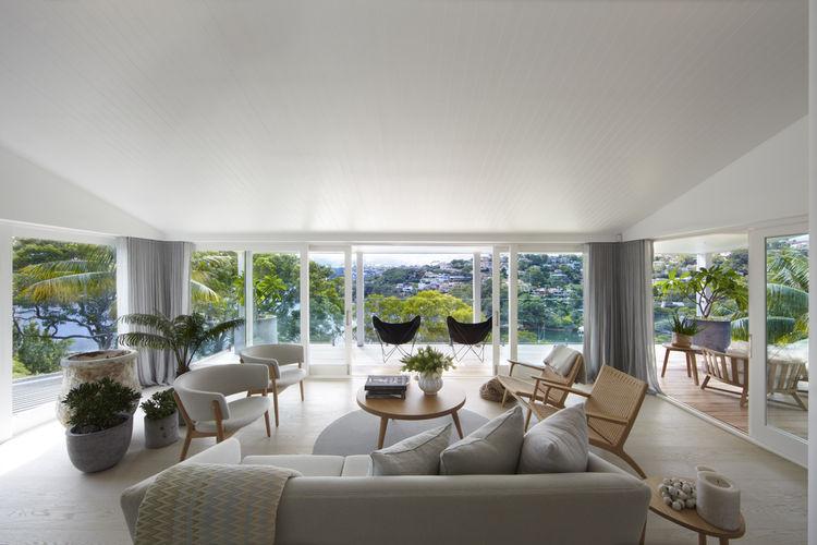 Sydney living room with veranda views