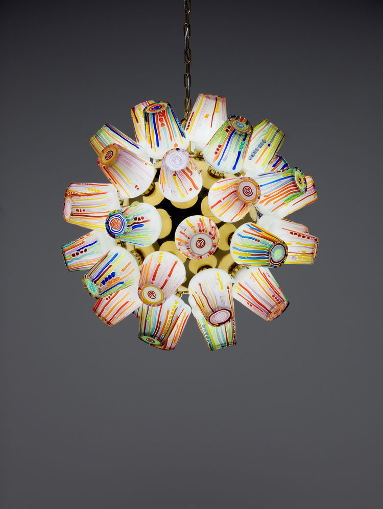 Sphere Chandelier, Candy Collection, Humberto Campana, Fernando Campana, Lasvit, Novy Bor, Czech Republic
