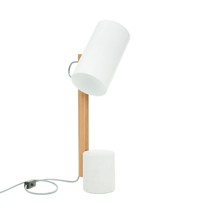 Quart Table lamp in white by Rich Brilliant Willing