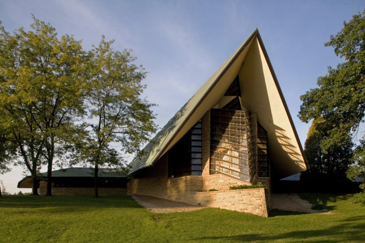 First Unitarian Society Meeting House by Frank Lloyd Wright in Madison, Wisconsin