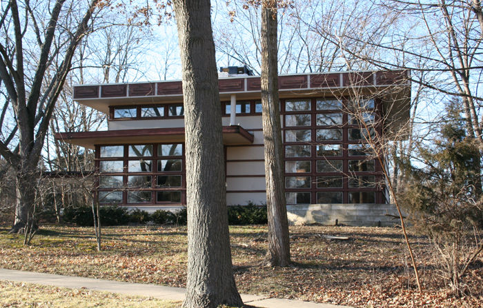 Rudin House prefab by Frank Lloyd Wright in Madison, Wisconsin