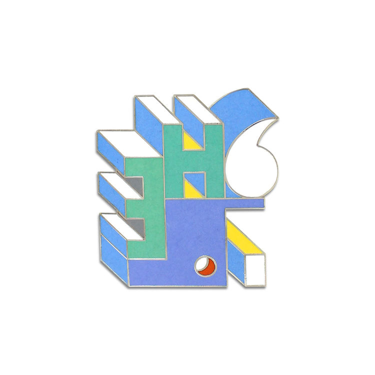 Tonka brooch by Michele de Lucchi for Acme Studio