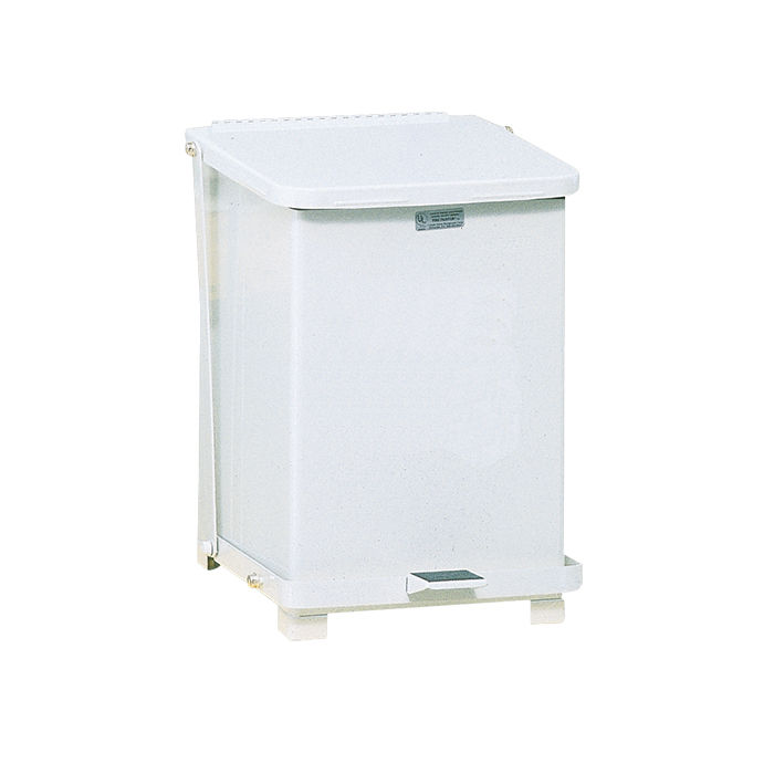 The Silent Defenders Steel Step trash can by Rubbermaid Commercial