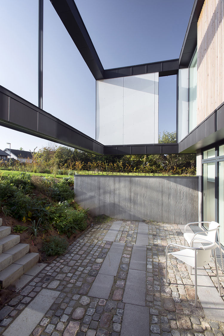 patio near a modern house in denmark