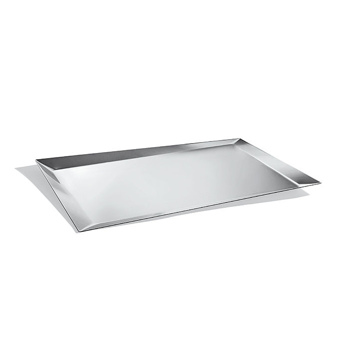 Silver Alice tray for Alessi designed by Odile Decq
