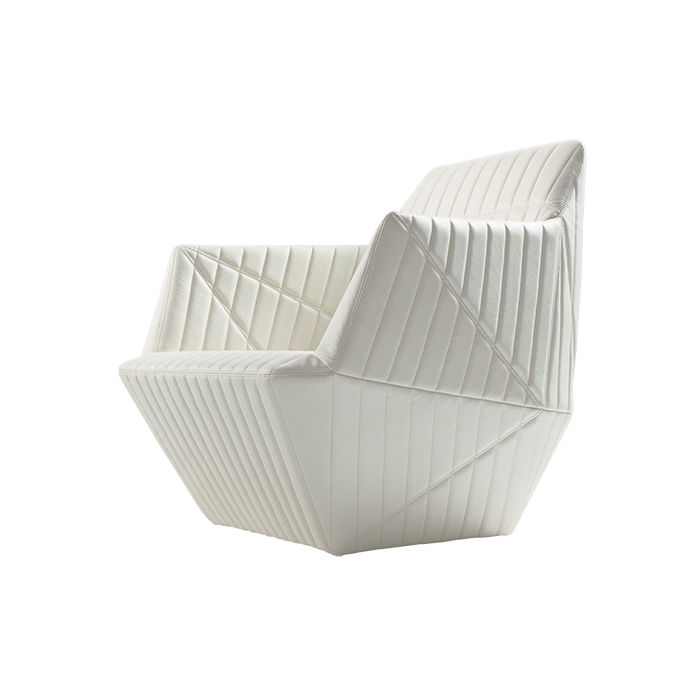 White armchair by Ronan and Erwan Bouroullec for Ligne Roset
