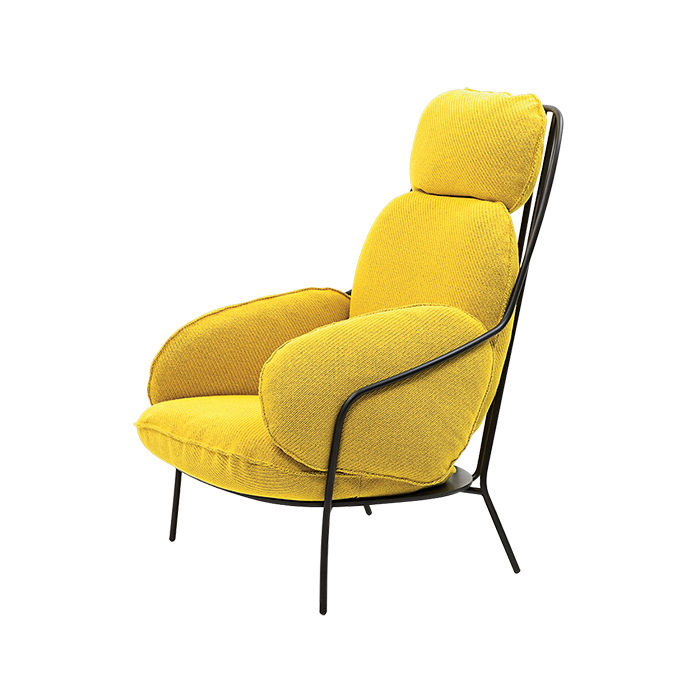 Yellow armchair by Luca Nichetto for Discipline