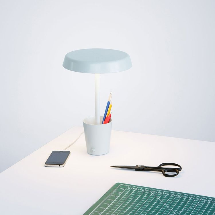 Multifunctional lamp with storage cup for pens and pencils