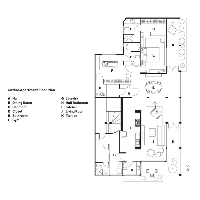 Jardins Apartment Floor Plan