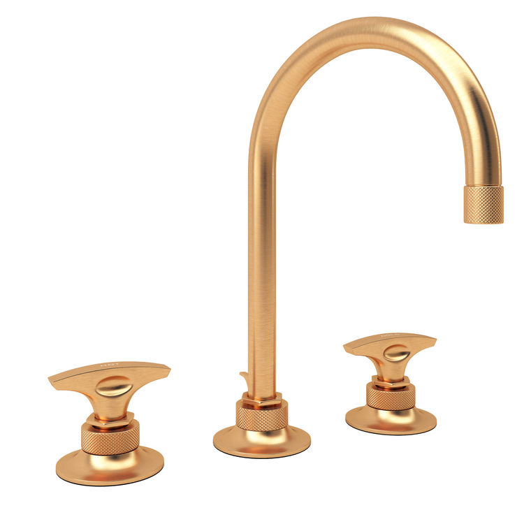 KBIS IBS TISE ROHL Michael Berman gold faucet