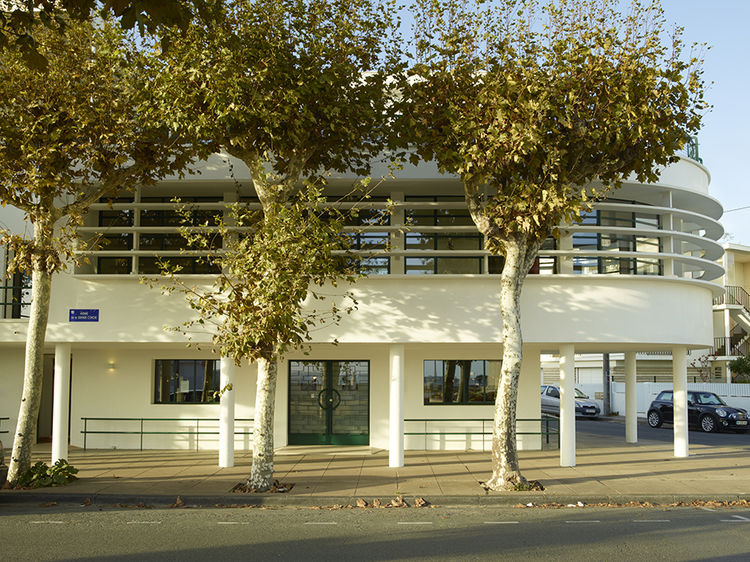 Modernist building in Royan, France