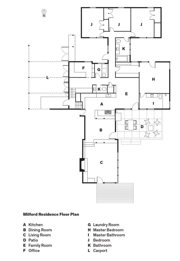 Milford Residence Floor Plan in Portland, Oregon
