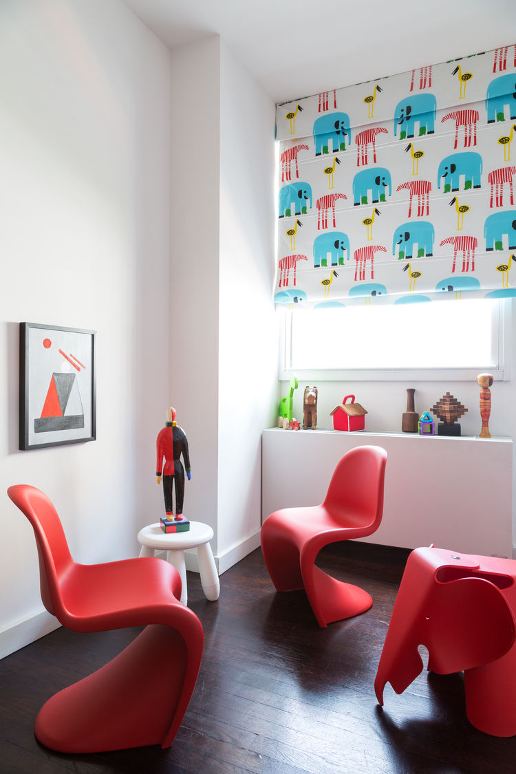 Meatpacking condo with Panton chairs