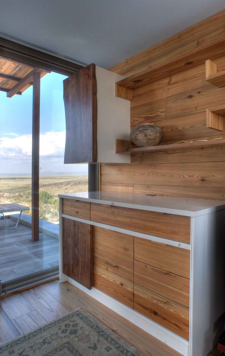 Marfa weeHouse Kitchen Cabinets