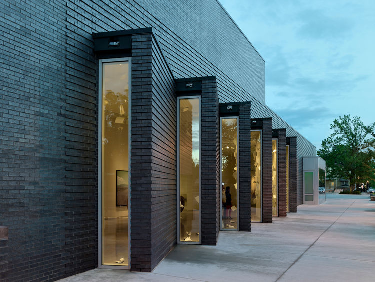 21c Museum Hotel brick facade in Bentonville, Arkansas