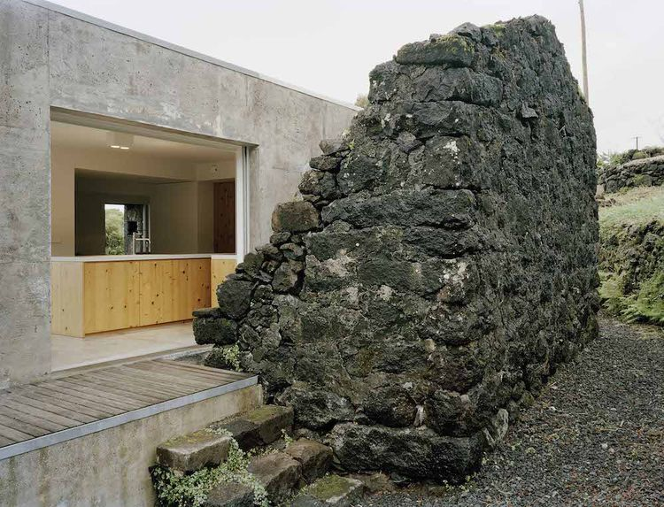 Pico Island Holiday Home in Portugal with exterior basalt wall