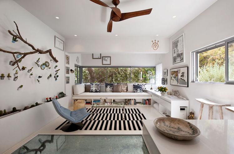 Tel Aviv living room with custom sofa
