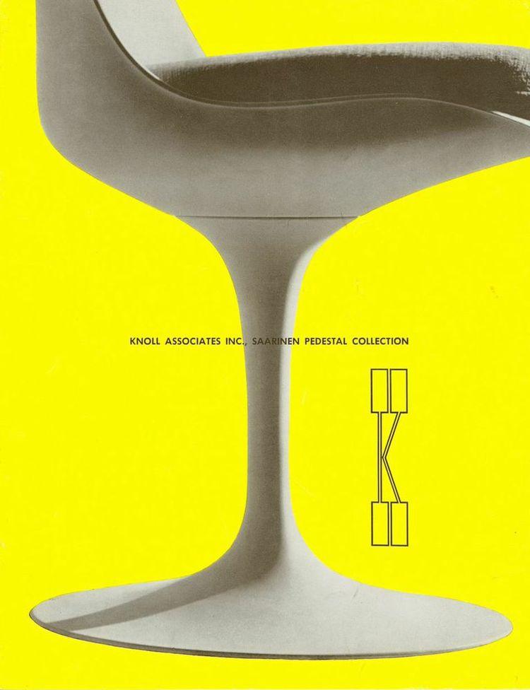 Knoll ad for Eero Saarinen's Pedestal collection