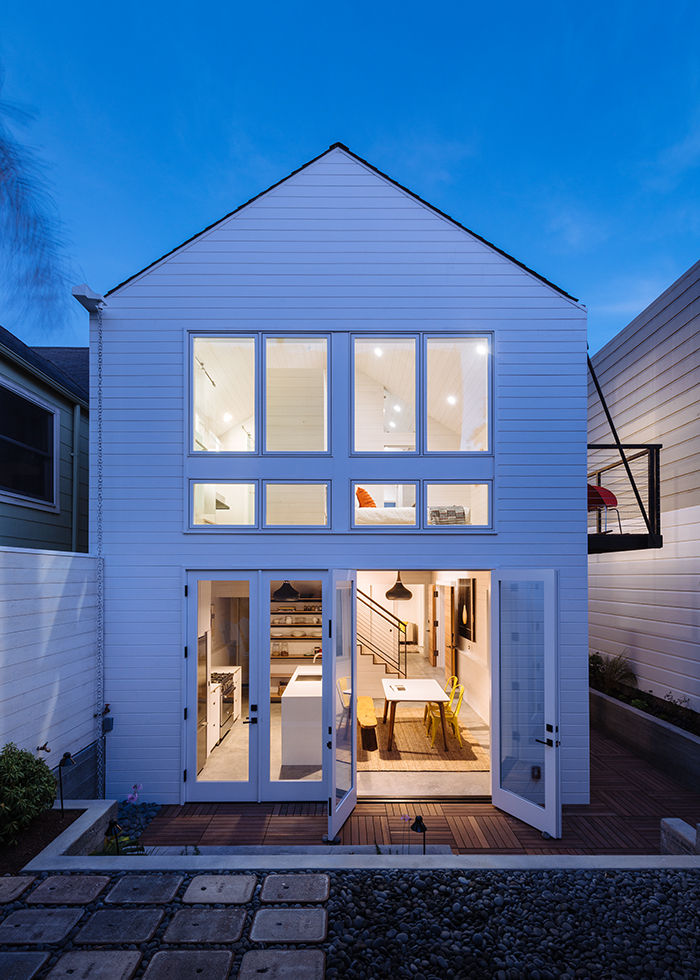 San Francisco white exterior with large windows