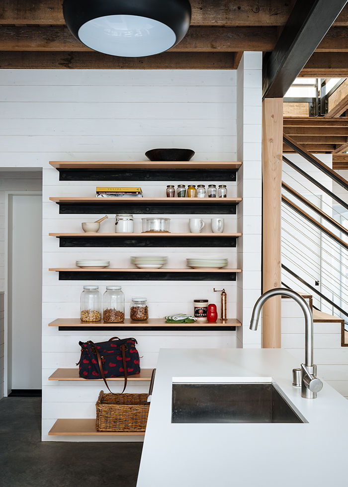 San Francisco kitchen with open shelving