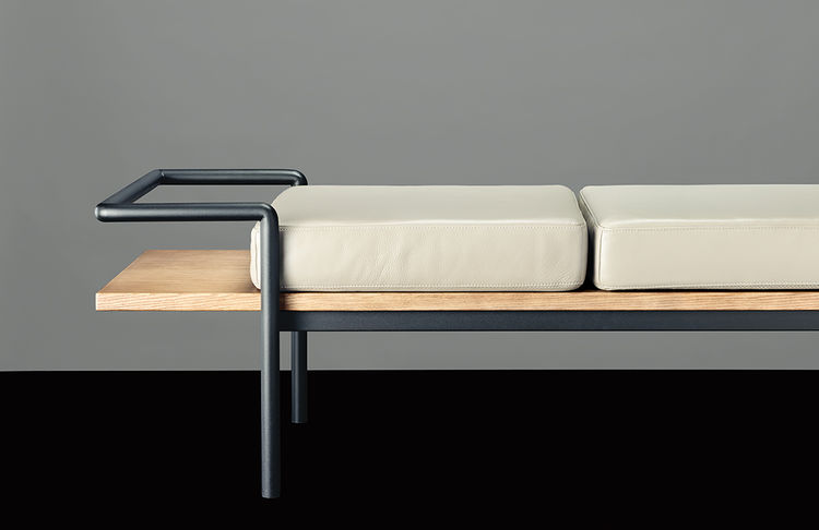 T904 bench by Gastone Rinaldi for Poltrona Frau