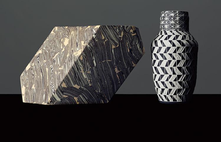 Vessel by Cody Hoyt and Vase by Dana Bechert