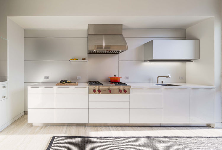 bulthaup b3 kitchen cabinets in white