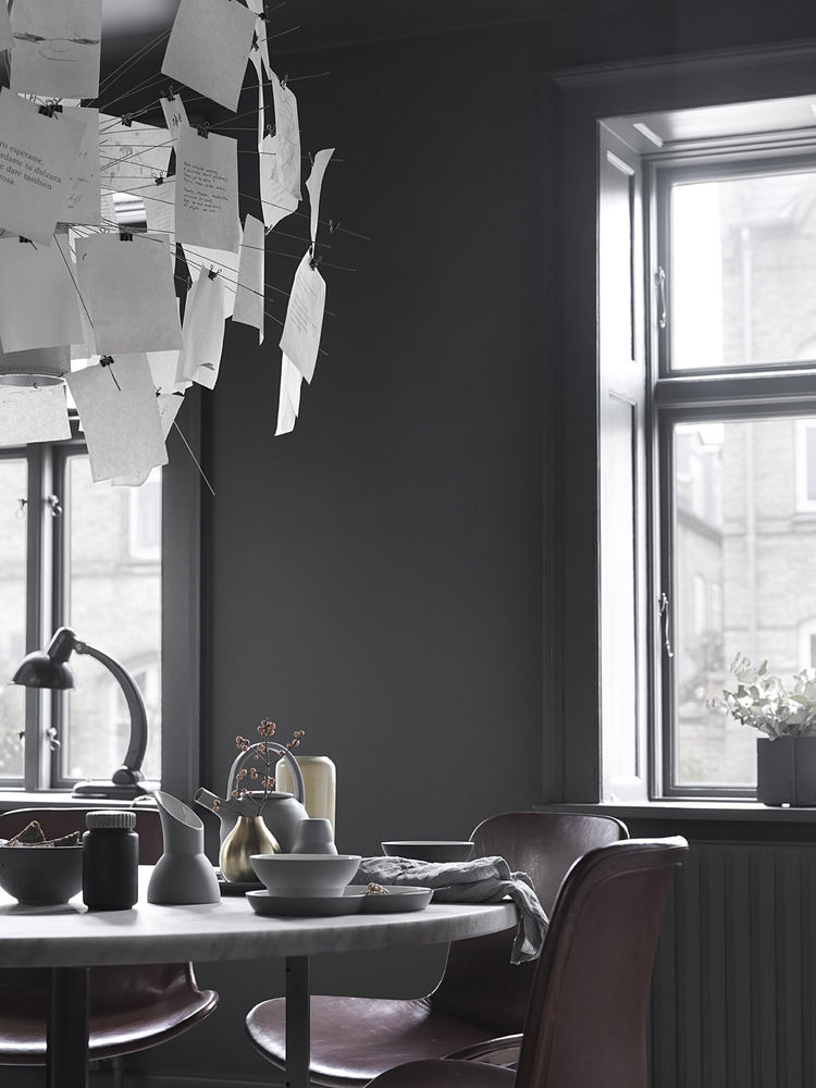 Dining Table in Monochromatic Copenhagen Townhouse