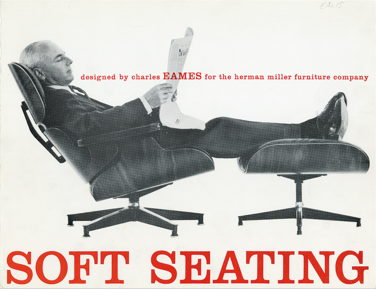 """""""Soft Seating,"""" 1959 Advertisement for the Charles Eames Lounge Set"""