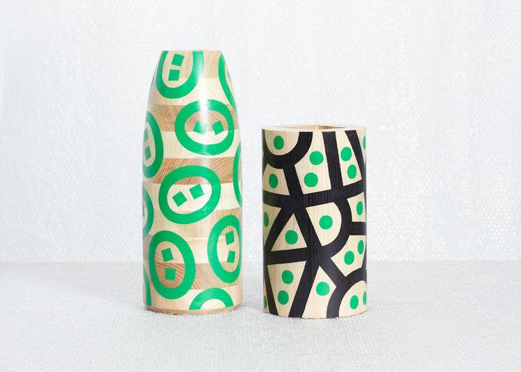 Maria Jeglinska graphic vases