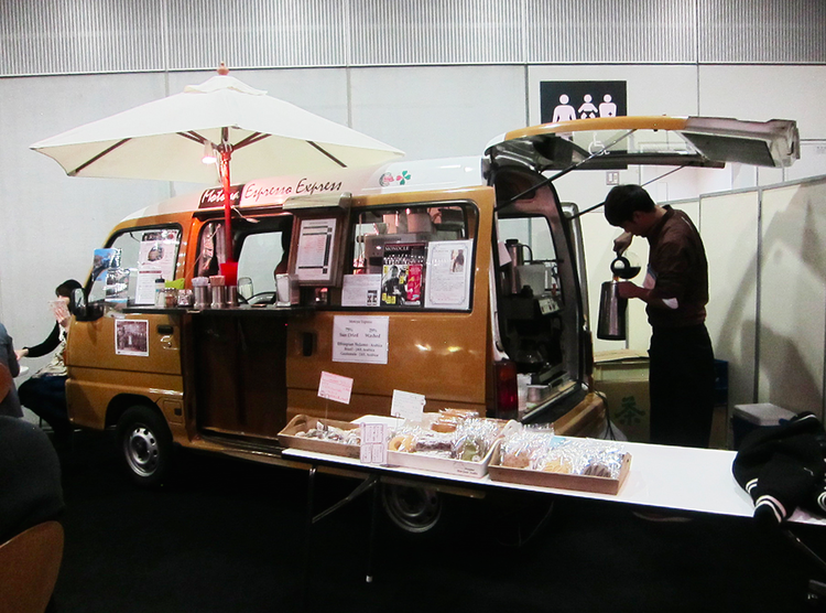 Coffee van at the Tokyo Gift Fair