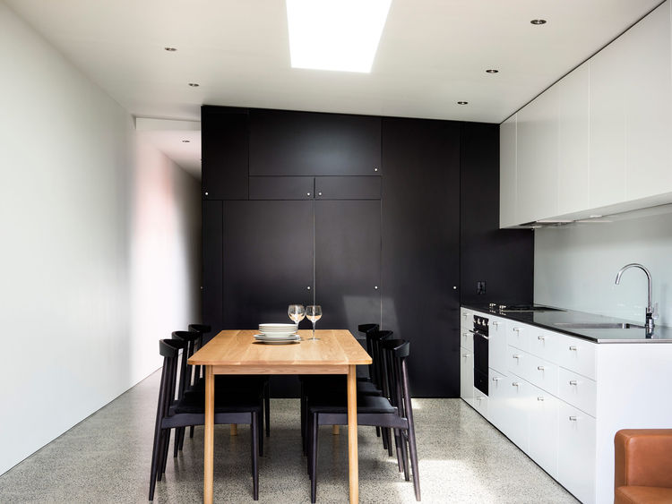 Kitchen and Dining Area in the Alexandria House in Sydney