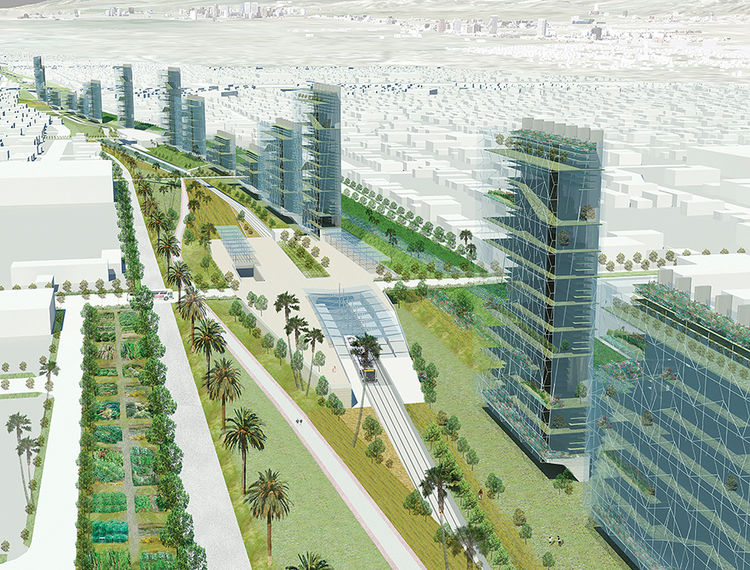 Initiative to green the Los Angeles freeways