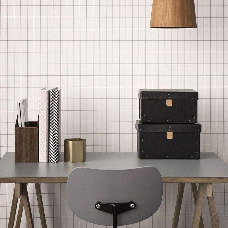 Ferm Living grid pattern wallpaper