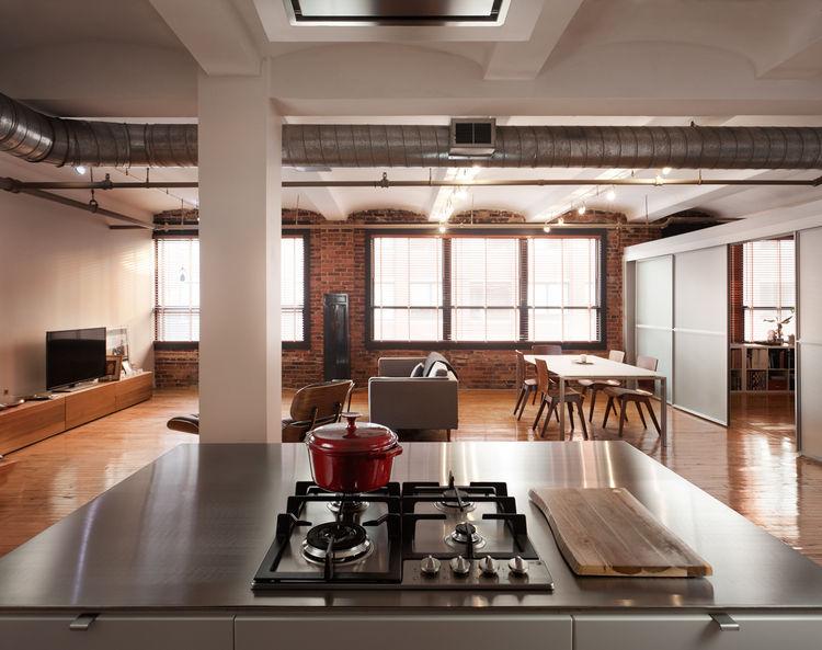 Boston factory turned into a loft