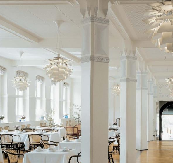 PH Artichoke pendants in the Ascot Hotel in Copenhagen