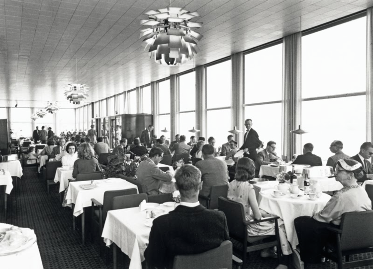 The Langelinie Pavilion, 1958, with newly installed PH Artichokes