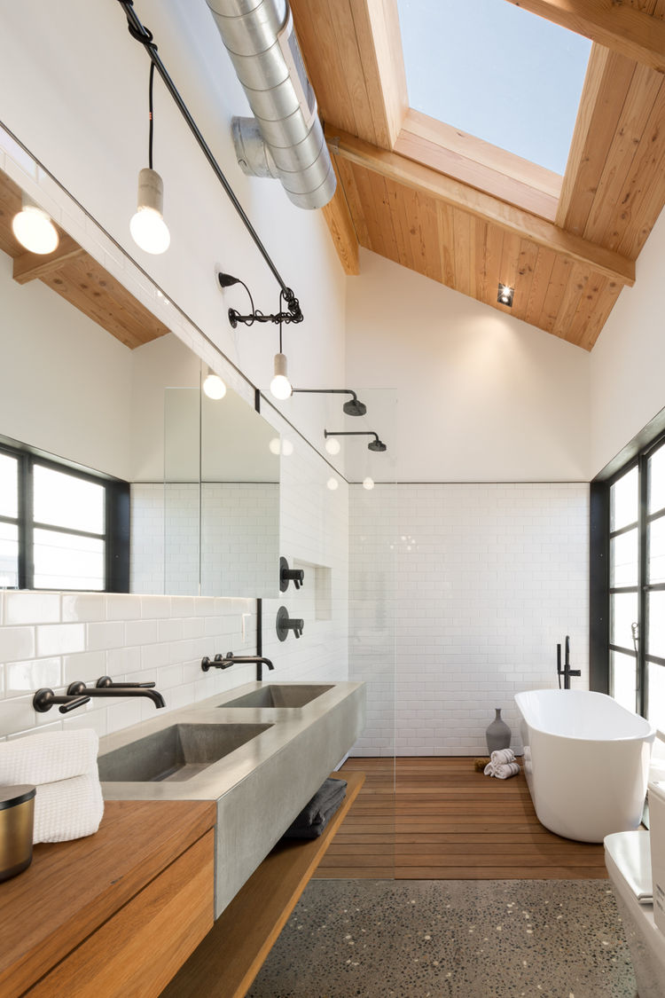 Master Bathroom in Phoenix Industrial Bungalow