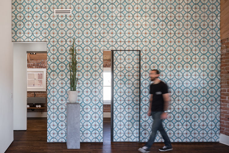Moroccan tile wall in Phoenix Industrial Bungalow