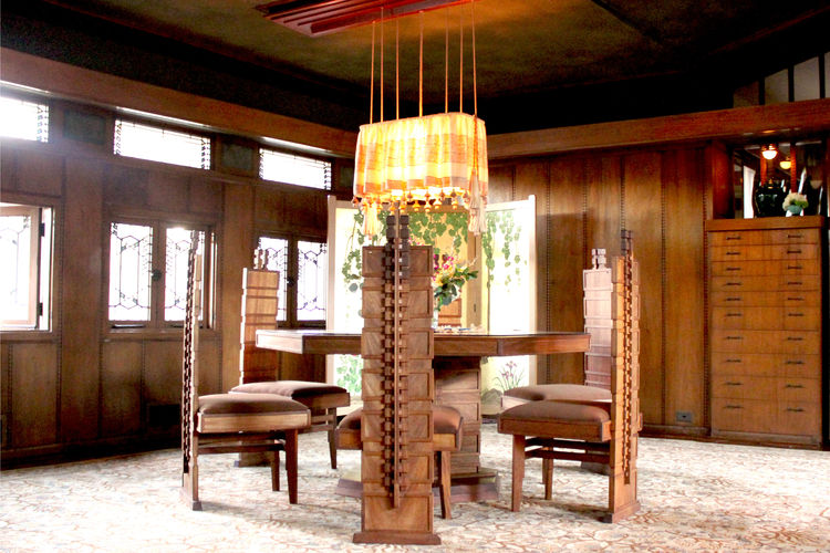 Frank Lloyd Wright Hollyhock House Los Angeles Dining Room Furniture Design