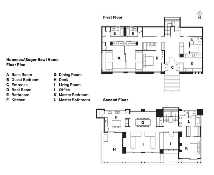 Huneeus/Sugar Bowl Home floor plans.