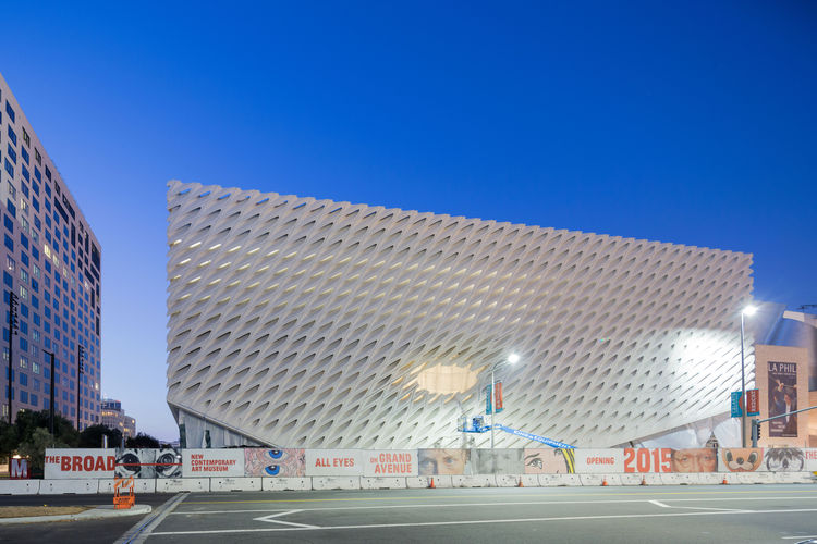 The Broad Museum Downtown Los Angeles Grand Avenue Exterior