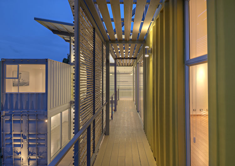Costa Rican Shipping Container Home Casa Incubo Outdoor Walkway